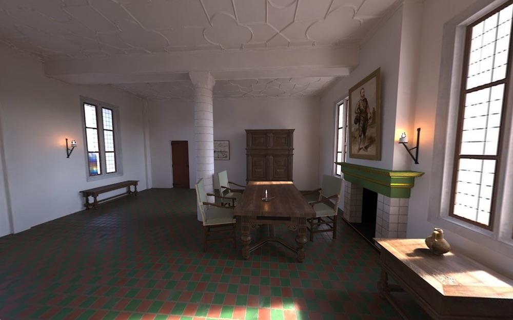 Reconstructie van de Commandeurskamer