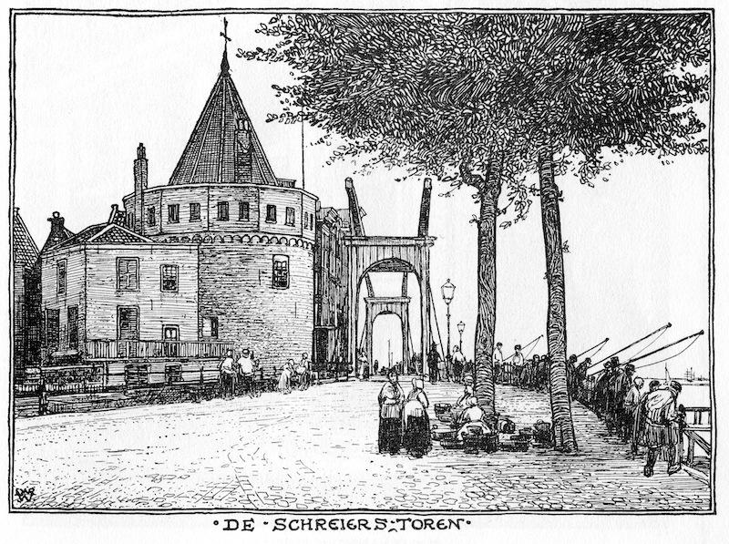 De Schreierstoren, tekening van Wenckebach